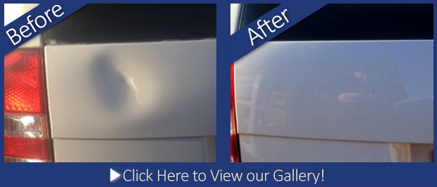 Vauxhall before and after dent repair