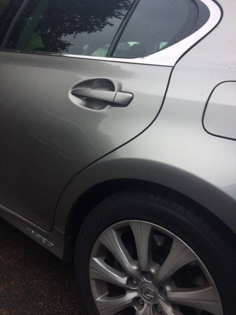 Lexus dent now fixed