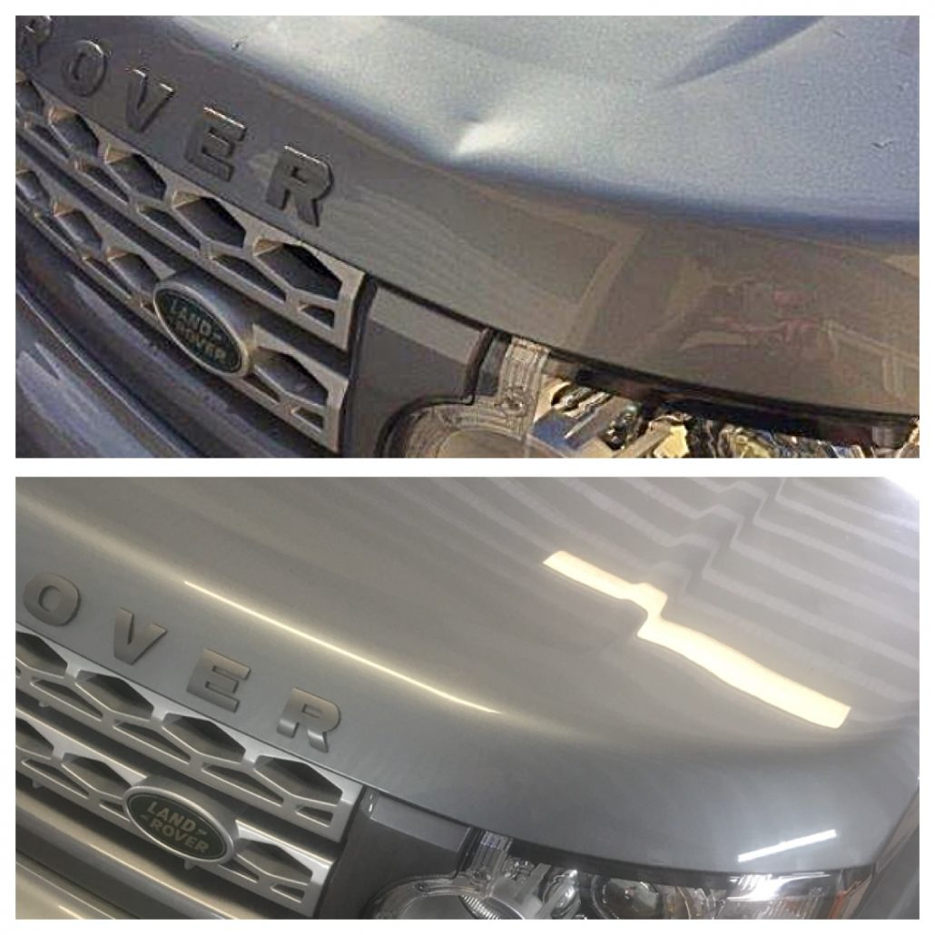 dent removal to Land Rover