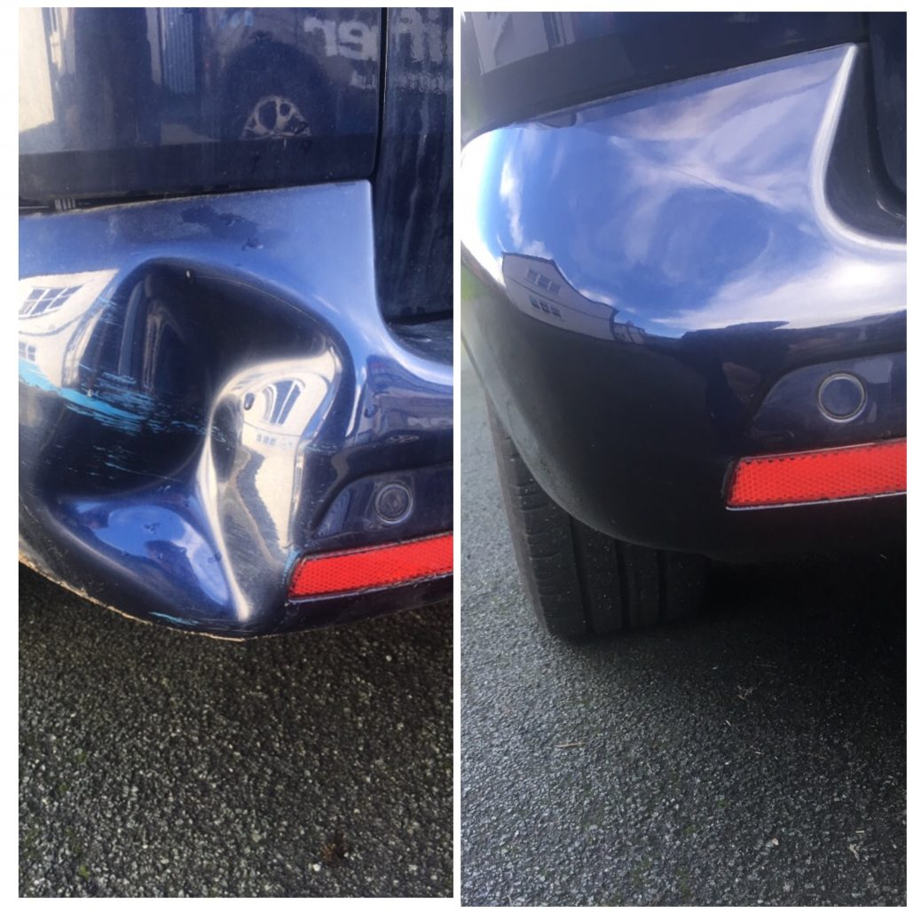 vw transporter dent repaired