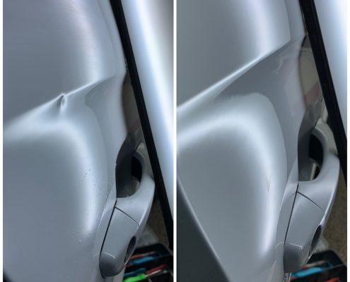 dent repaired to Vauxhall crossland